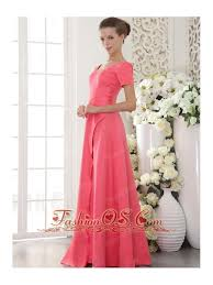 Coral Red Column Sheath Scoop Floor Length Satin Beading Mother Of The Bride Dress