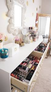 Makeup Vanity Table With Lights Ikea by 25 Gorgeous Makeup Collection Storage Ideas On Pinterest Makeup