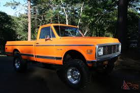 100 1972 Chevy Truck 4x4 1971 Chevy Pickup Custom 10 Orange 350 Motor C10
