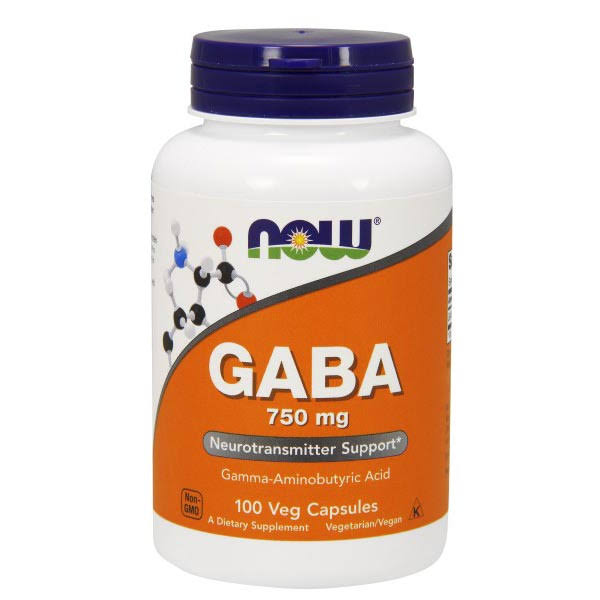 Now Foods Gaba – 750mg, 100 Capsules