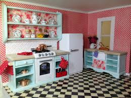 Once Upon A Doll Collection Shabby Chic Kitchen Dollhouse Part 5