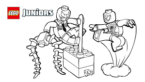 Lego Spiderman Printable Coloring Pages Archives In