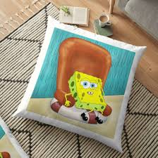 SpongeBob On A Chair | Floor Pillow