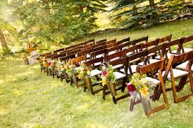 Rustic Wedding Decorations Ceremony Park City Utah Chic