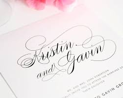 Script Elegance Wedding Invitations By Shine