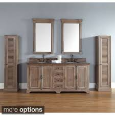 Providence 72 Double Vanity Cabinet Driftwood