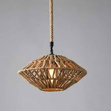 Kitchen Island Ls Hemp Rope Ceiling Light Hanging Pendant Light Rustic Rope