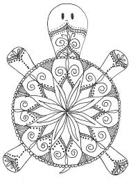 Ideas Of Printable Turtle Mandala Coloring Pages With Additional Summary Sample