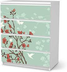 creatisto möbel folie passend für ikea malm kommode 4 schubladen i möbelfolie möbel sticker aufkleber i deko ideen wohnung für esszimmer und
