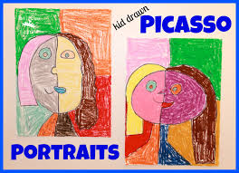 Kids Picasso Style Portrait Art Get Arty