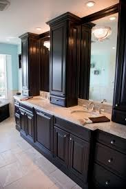 Bathroom Vanity With Tower Pictures by Prepossessing Bathroom Vanity With Center Cabinet Home Ideas