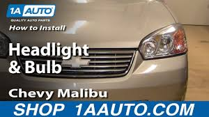 100 2011 Malibu Parts How To Replace Headlight 0408 Chevy YouTube