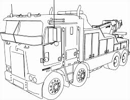 Semi Truck Coloring Pages Best Of Dump Awesome Line Drawing At And ...