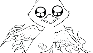 Owl Coloring Pages Simple Bird To Print Free Of Birds Cute For Kids