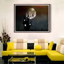 Details About Witchs House Moon Canvas Art Poster Living Room Unframed Picture Wall Decor