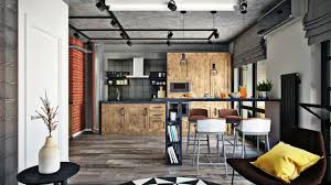 100 Loft Apartment Interior Design Bedroom Kitchen Living Room