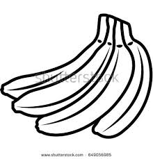 Banana fruit vector icon