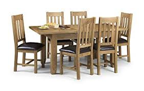 Julian Bowen Astoria Oak Extending Dining Table Set Light And 6 Chairs