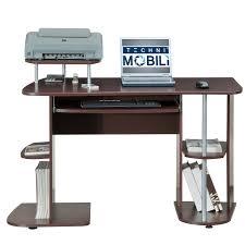 furniture rta 3806 techni mobili tempered glass computer desk