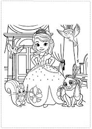 Sofia The First Free Printable Coloring Pages Save