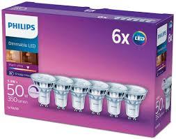 philips gu10 5 5 watt led glass dimmable spot light warm white replacement for 50 w halogen spot