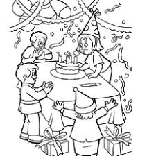 Fun During Birthday Party Coloring Page