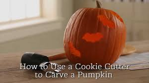 Preserving A Carved Pumpkin by How To Carve A Pumpkin With A Cookie Cutter Youtube