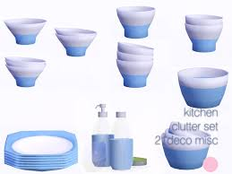 Kitchen Clutter Set 21 Meshes By DOT Of The Sims Resource Found In TSR Category 3 Sets