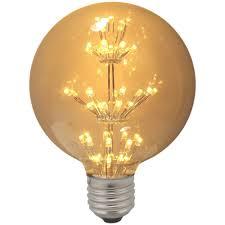 impact led antique globe light bulb 1 3w es warm white