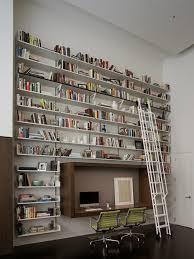 bibliothèque avec bureau intégré 42 idées déco de bureau pour votre loft