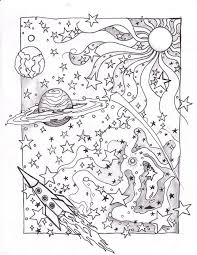 Outer Space Coloring Pages Adult