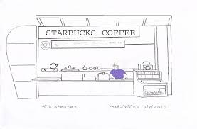At Starbucks Drawing By Fred Jinkins