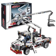 Decool 3350 Bucket Truck King Steerer Building Block Set, Toys ... Amazoncom Little Tikes Dirt Diggers 2in1 Dump Truck Toys Games 2017 Hess And End Loader Light Up Toy Goodbyeretail Intertional 4300 Altec Bucket C Flickr Long Haul Trucker Newray Ca Inc Sce Volunteers Cook Electric Made Of Food Cans 3bl Buy Bruder 116 Man Tga Low Online At Universe Decool 3350 King Steer Building Block Set Lloyd Ralston Ho Scale 7600 Utility Wbucket Lift Yellow Air Pump Crane Series Brands Products Www Lighted Ford F450 Xl Regular Cab Drw Service Body Lego Technic Lego 8071 Muffin Songs