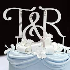 Initial Cake toppers for Weddings Initial Cake toppers Letter Cake