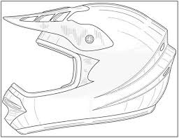 How To Draw A Dirt Bike Helmet