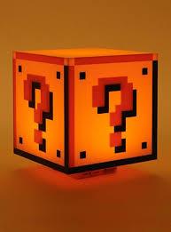 Mario Bros Question Block Lamp by Mario Question Block