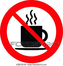 Clipart Of No Coffee Cup Sign K20018104