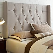 Roma Tufted Wingback Bed King by King Size Tufted Headboard Design Alternative Of Expensive King