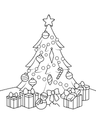 Click To See Printable Version Of Christmas Tree With Presents Coloring Page
