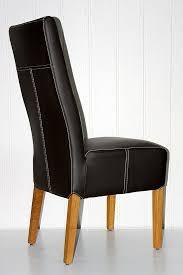 polster stuhl ajax 46x103x65cm toledo leder braun eiche massiv geölt