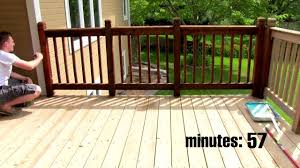 Deck Scrub Brush Home Depot by Deck Stain Spray Vs Brush Deck Design And Ideas