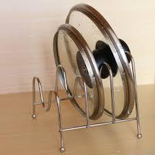 Three Layer Metal Pot Lid Cutting board Shelf Dish Rack Holder
