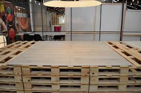 Inalco Design Days Wooden pallet for showing new Slimmker