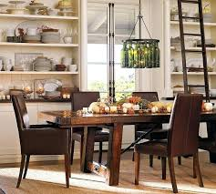 Dining Tables Decoration Ideas Chic Vintage Table Decor Pottery Barn Room Teak Wood Long For