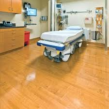 Wood Grain Vinyl Flooring Natural Sheet Roll With Hospital Room Reviews