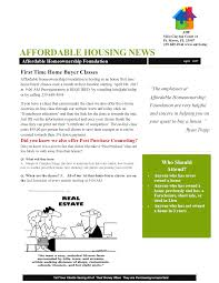 April 8th First Time Homebuyer Class