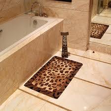 Modern Bathroom Rugs And Towels by Leopard Bathroom Rug Roselawnlutheran