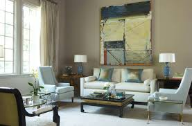 Taupe Sofa Living Room Ideas by Taupe Sofa Under Blue Abstract Art Contemporary Living Room