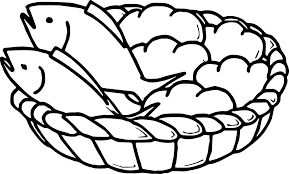 5 Loaves Bread And 2 Fish Coloring Page