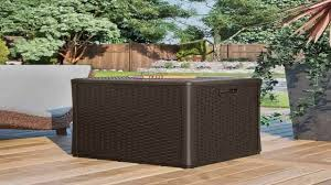 Suncast 50 Gallon Deck Boxstorage Bench by Suncast Bmdb60 Storage Cube Youtube